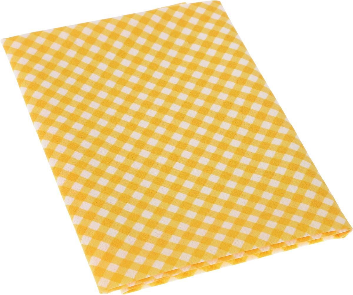 Ткань для пэчворка Артмикс Клетка, цвет: желтый, белый, 48 x 50 см