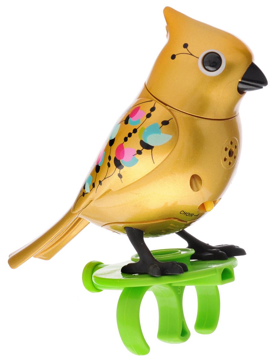 DigiBirds Интерактивная игрушка Птичка с кольцом цвет золотой