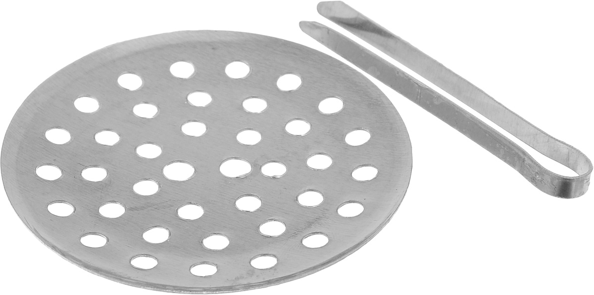 """Решетка для слива МастерПроф """"Remer"""" предотвратит попадание остатков еды в канализационный сток, предотвращая тем самым его засорение.Диаметр решетки: 6,5 см."""