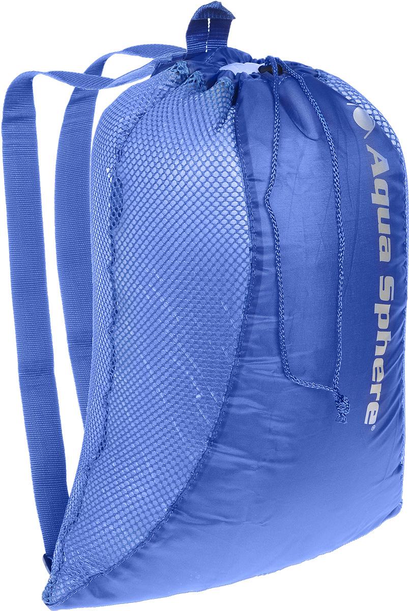 Рюкзак сетчатый Aqua Sphere, цвет: синий, 46 х 61 смSP 301845Многофункциональный сетчатый рюкзак Aqua Sphere идеально подходит для переноски и хранения комплекта снаряжения для плавания. Изделие выполнено из высококачественного нейлона. Регулируемые по длине плечевые ремни обеспечивают удобную переноску. Рюкзак закрывается сверху на шнурок на кулиске.