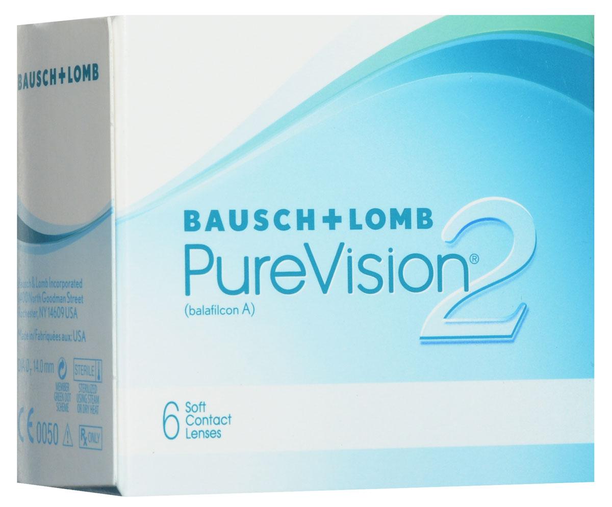 Bausch + Lomb контактные линзы Pure Vision 2 (6шт / 8.6 / - 1.00)44344Асферические контактные линзы Pure Vision 2 с высокой оптической четкостью создавались, чтобы производить коррекцию сферической аберрации, что позволит добиться великолепной четкости зрения. Сферическая аберрация может стать причиной понижения остроты зрения, особенно в условии плохой освещенности, что может привести к ухудшению зрения и засвету. Так же, используя оптику High Definition, вы обретете четкое и хорошее зрение, особенно в условии плохой видимости.Данная линза - наиболее тонкая, представленная в настоящее время на рынке. Она имеет тончайший закругленный край, что дает возможность абсолютно не ощущать их при ношении. Комфортное ношение обеспечивается при помощи технологии ComfortMoist. Представленные линзы упаковывают в блистер с уникальным раствором, который хорошо увлажняет линзу, обеспечивая максимально возможное комфортное ношение. Замена через 1 месяц. Характеристики:Материал: балафилкон А. Кривизна: 8.6. Оптическая сила: - 1.00. Содержание воды: 36%. Диаметр: 14 мм. Количество линз: 6 шт. Размер упаковки: 7,5 см х 7 см х 4 см. Производитель: США. Товар сертифицирован.Контактные линзы или очки: советы офтальмологов. Статья OZON Гид