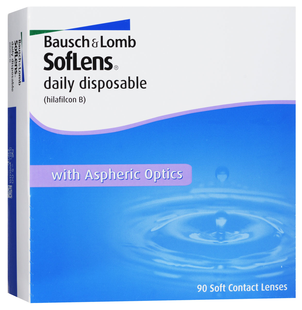 Bausch + Lomb контактные линзы Soflens Daily Disposable (90шт / 8.6 / -5.00)