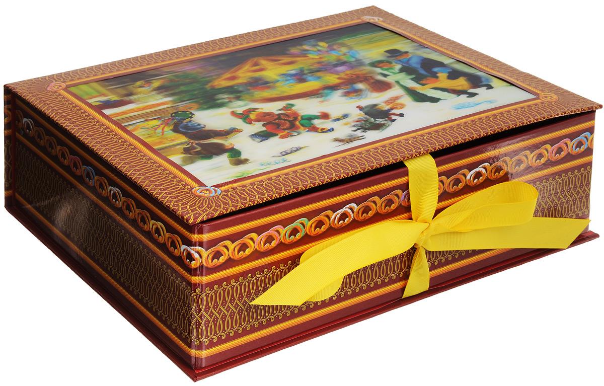 Коробка Правила Успеха Конфетки-бараночки, раскладная, 30 х 23 х 9 см4610009211732Раскладная подарочная коробка Правила Успеха Конфетки-бараночки изготовлена из плотного картона, украшенного изображениями узоров и баранок. Крышка коробки оформлена голографической картинкой. Изделие прекрасно подойдет для конфет и различных небольших сувениров.