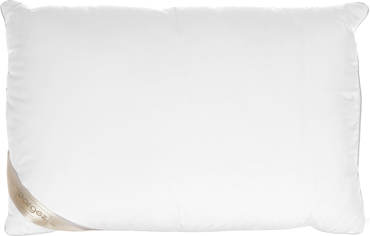Подушка Dargez Женева, наполнитель: пух, цвет: белый, 50 х 70 см113238Подушка Dargez Женева подарит комфорт и уют во время сна. Чехол подушки, выполненный из 50% вискозы и 50% полиэстера, оформленный фигурной стежкой, которая надежно удерживает наполнитель внутри. Натуральное сырье, инновационные разработки и современные технологии - вот рецепт вашего крепкого сна. Изделия коллекции способны стать прекрасным подарком для людей, ценящих красоту и комфорт. Особенности подушки Dargez Женева:- необычайно гладкая поверхность ткани,- высокая воздухопроницаемость,- поддержание оптимального уровня влажности, - долговечность в использовании,- хорошая терморегуляция, - антибактериальность, - мягкость и легкость, Рекомендации по уходу:- стирка при температуре не более 40°С. - запрещается отбеливать, гладить.- можно выжимать и сушить в стиральной машине.