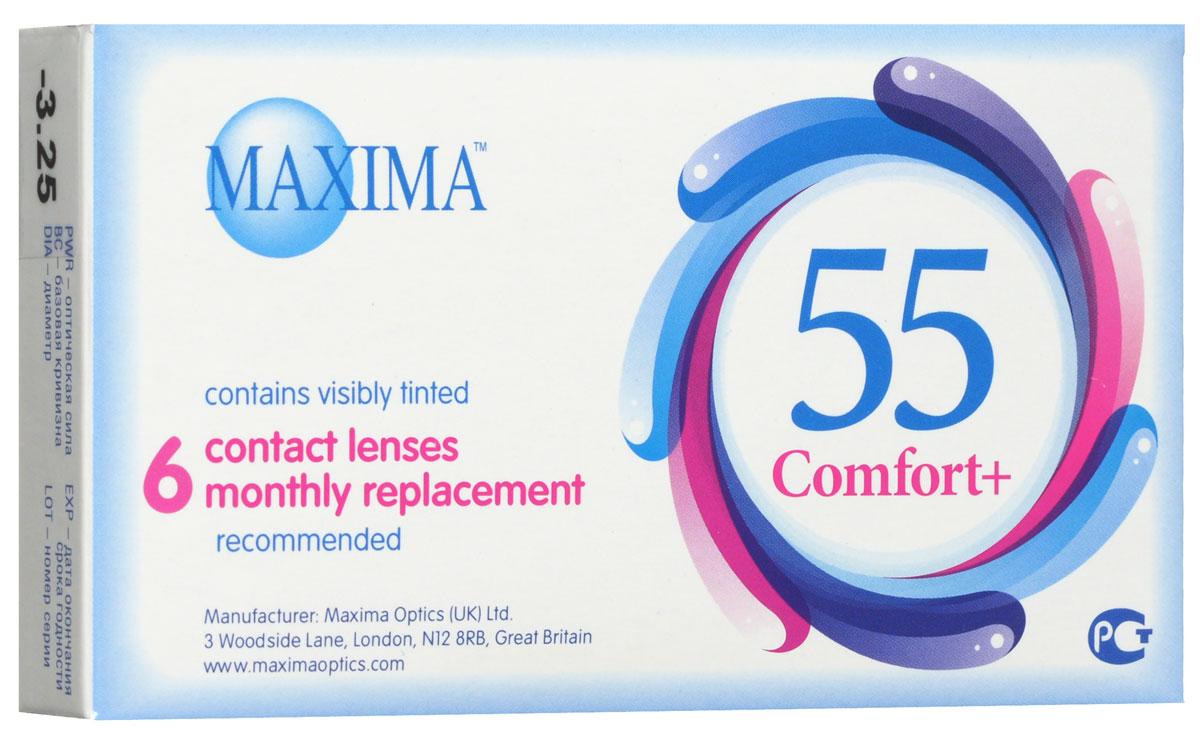 Maxima контактные линзы 55 Comfort Plus (6шт / 8.6 / -3.25)