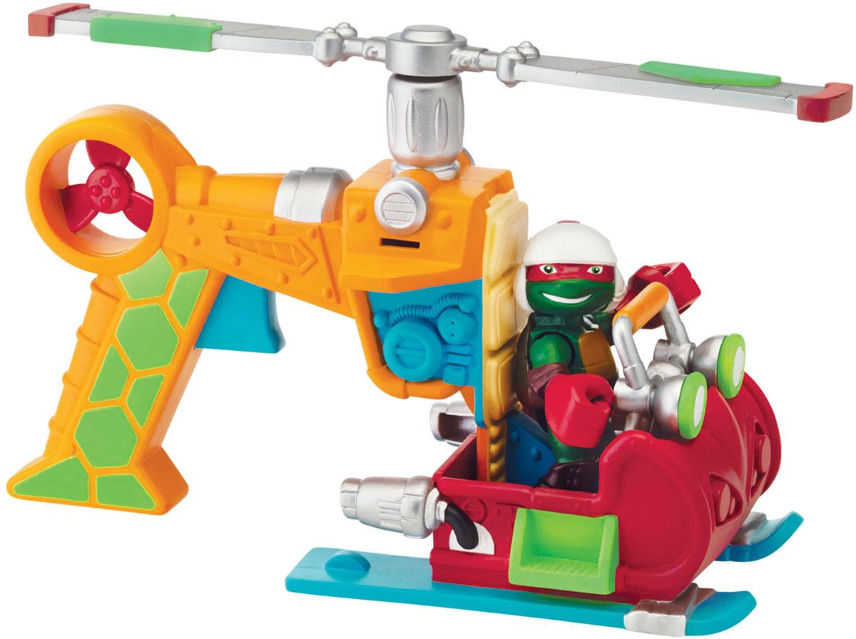 Черепашки Ниндзя Вертолет с фигуркой Рафа гидроцикл черепашки ниндзя