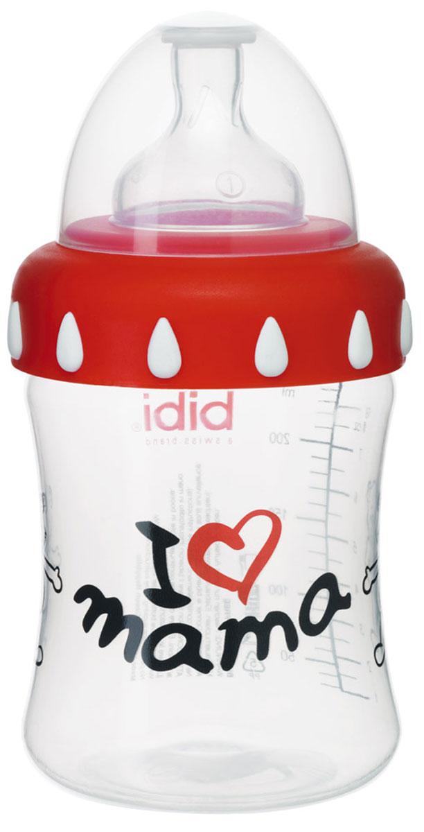 Bibi Бутылочка Mama с силиконовой соской 3 в 1 250 мл -  Бутылочки