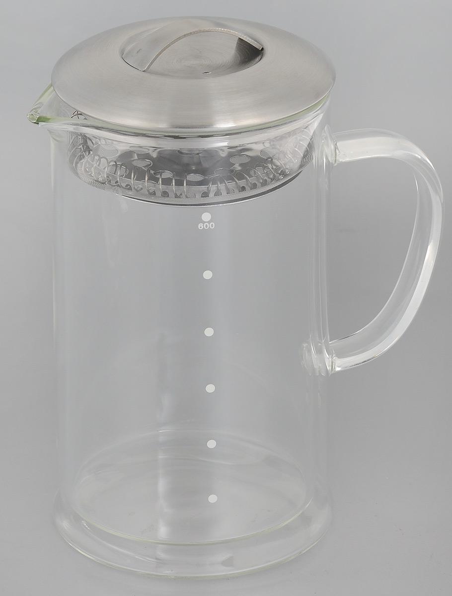 Чайник заварочный Apollo Phantom, 600 млPHM-60Заварочный чайник Apollo Phantom выполнен из двойного стекла, устойчивого к окрашиванию,царапинам и термошоку. Чайник оснащен крышкой с сетчатым фильтром из нержавеющей стали. Онзадерживает чаинки и предотвращает их попадание в чашку, а прозрачные стенки дадутвозможность наблюдать за насыщением напитка.Заварочный чайник Apollo Phantom займет достойное место на вашей кухне и позволит вамзаварить свежий, ароматный чай.Чайник нельзя мыть в посудомоечной машине.Высота чайника (с учетом крышки): 17,5 см.Диаметр чайника по верхнему краю: 9 см.Высота стенки чайника: 14,5 см.Диаметр фильтра: 8,5 см.