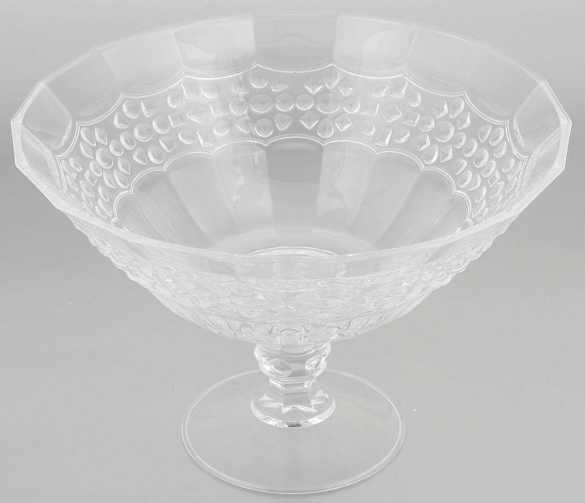 Салатник Cristal dArques Allure, диаметр 25,5 смG5667Салатник Cristal dArques Allure изготовлен из из специально разработанного стекла Diamax в форме большойчаши на ножке, декорирован рельефом. Данный салатник сочетает в себе изысканный дизайн с максимальной функциональностью. Он прекрасно впишется в интерьер вашей кухни и станет достойным дополнением к кухонному инвентарю. Такой салатник не только украсит ваш кухонный стол и подчеркнет прекрасный вкусхозяйки, но и станет отличным подарком.Диаметр (по верхнему краю): 25,5 см.Высота: 17 см.Диаметр основания: 11 см.
