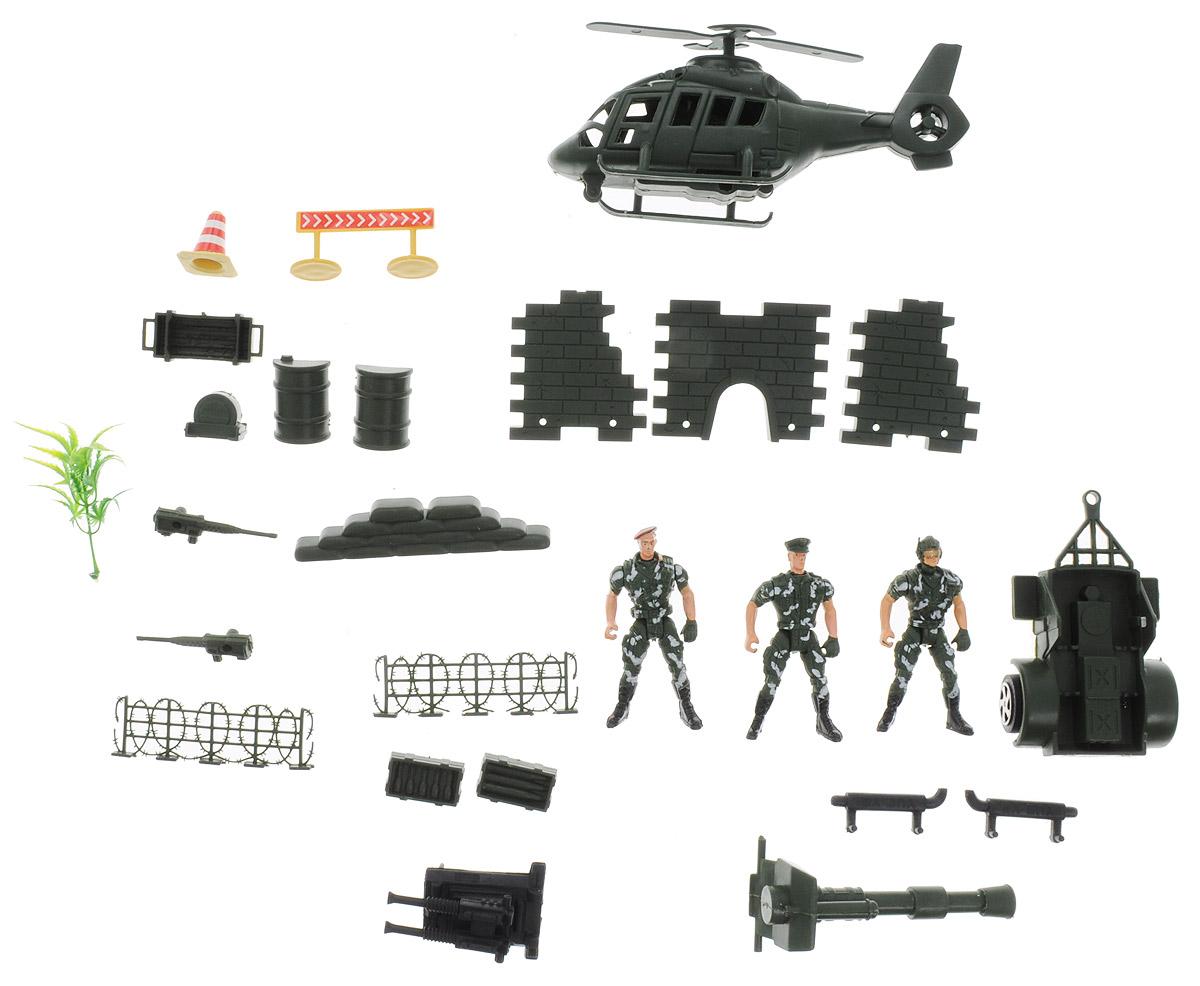 Junfa Toys Игровой набор Солдатики с вертолетом