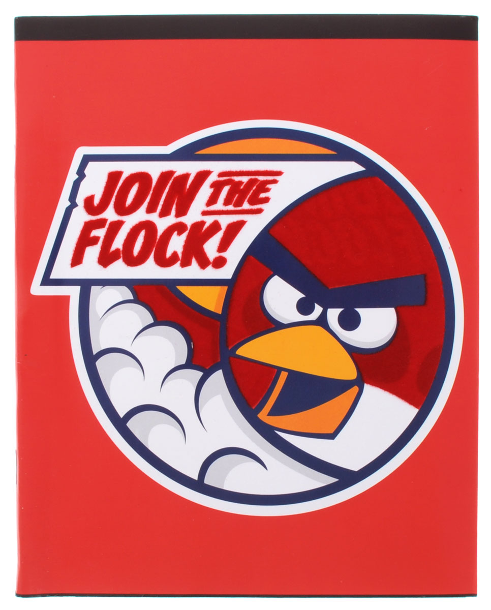 Hatber Тетрадь Angry Birds 48 листов в клетку цвет красный48Т5флB1_11825Тетрадь Hatber Angry Birds отлично подойдет для занятий школьнику или студенту.Обложка, выполненная из плотного картона, позволит сохранить тетрадь в аккуратном состоянии на протяжении всего времени использования. Изделие оформлено бархатистым изображением злой птички.Внутренний блок тетради, соединенный скрепками, состоит из 48 листов белой бумаги в голубую клетку с полями красного цвета.