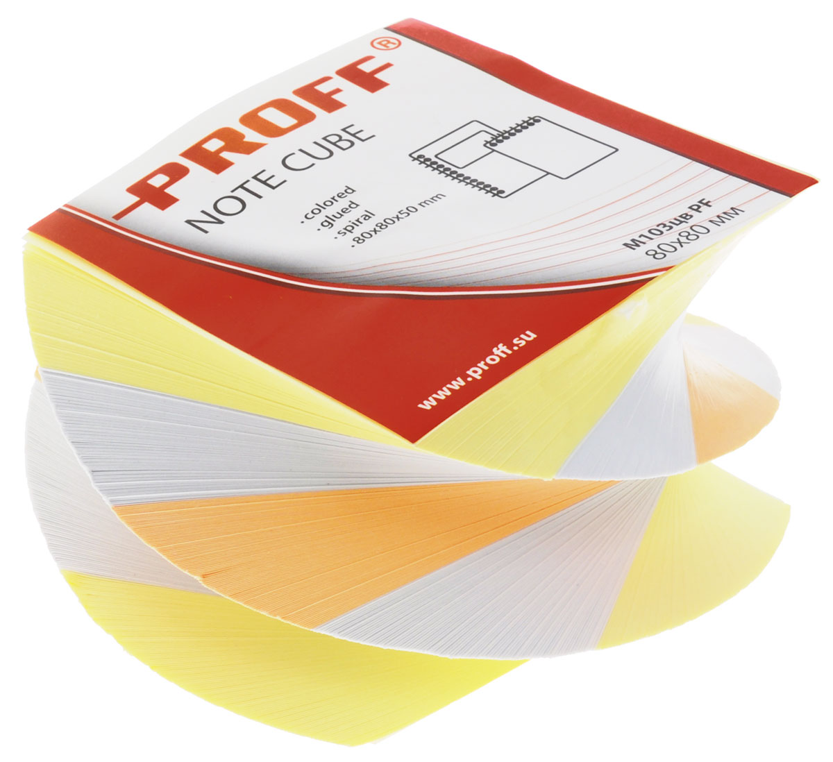 Proff Блок для записей цвет оранжевый желтый белый