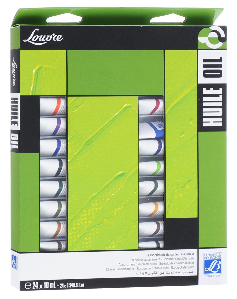 """Краски масляные Lefranc & Bourgeois """"Louvre"""", 10 мл, 24 цвета"""