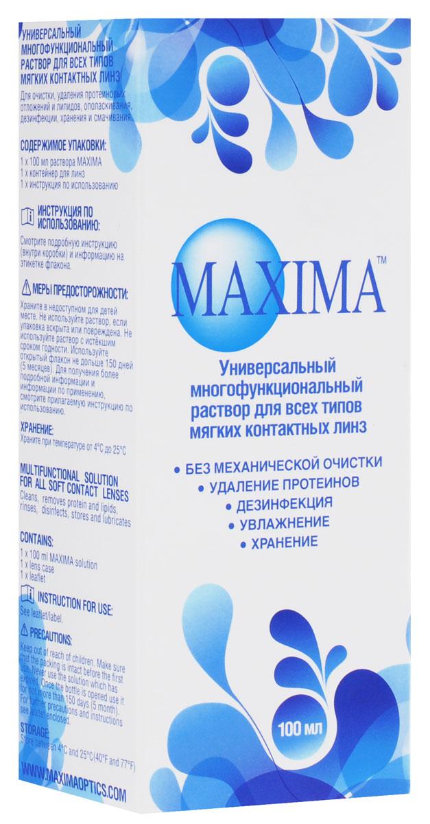 Maxima Раствор для контактных линз, с контейнером, 100 мл, Maxima Optics