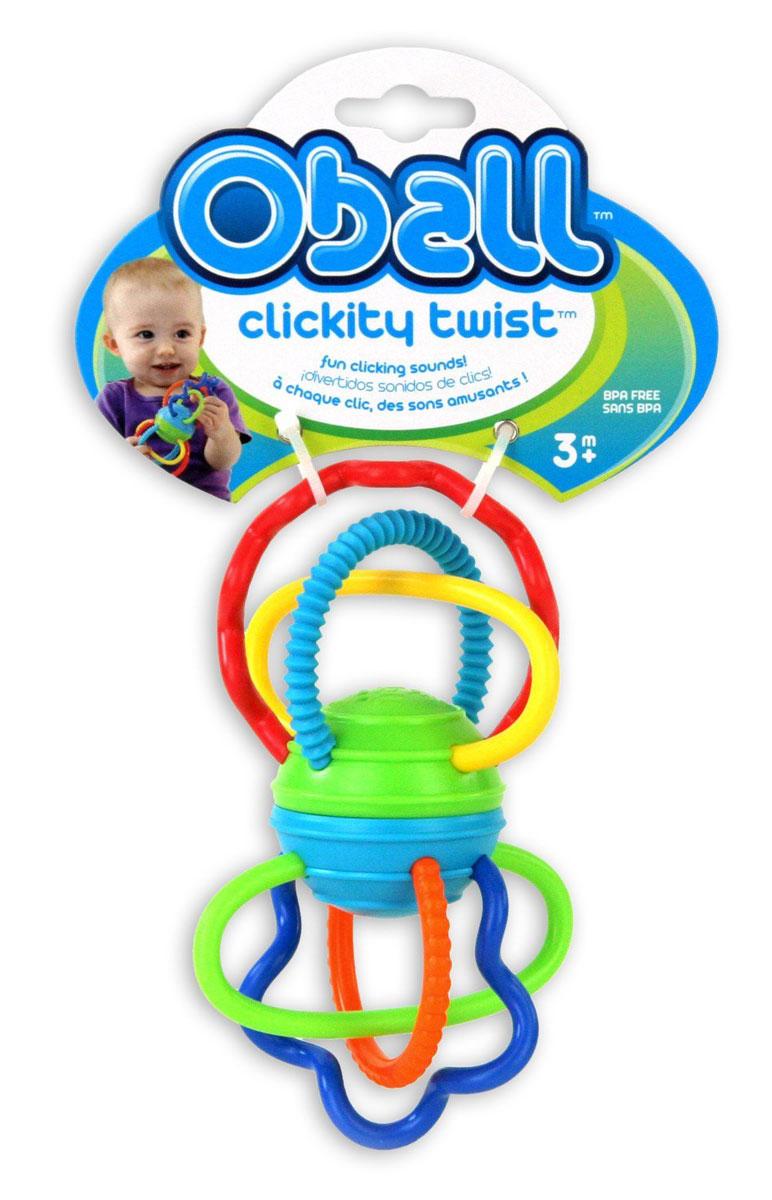 Oball Развиващая игрушка-прорезыватель Разноцветная гантелька прорезыватели oball прорезыватель разноцветные ключики