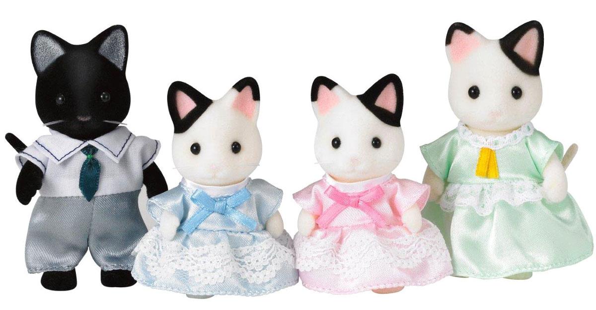 Sylvanian Families Набор фигурок Семья черно-белых котов набор семья персидских котов new