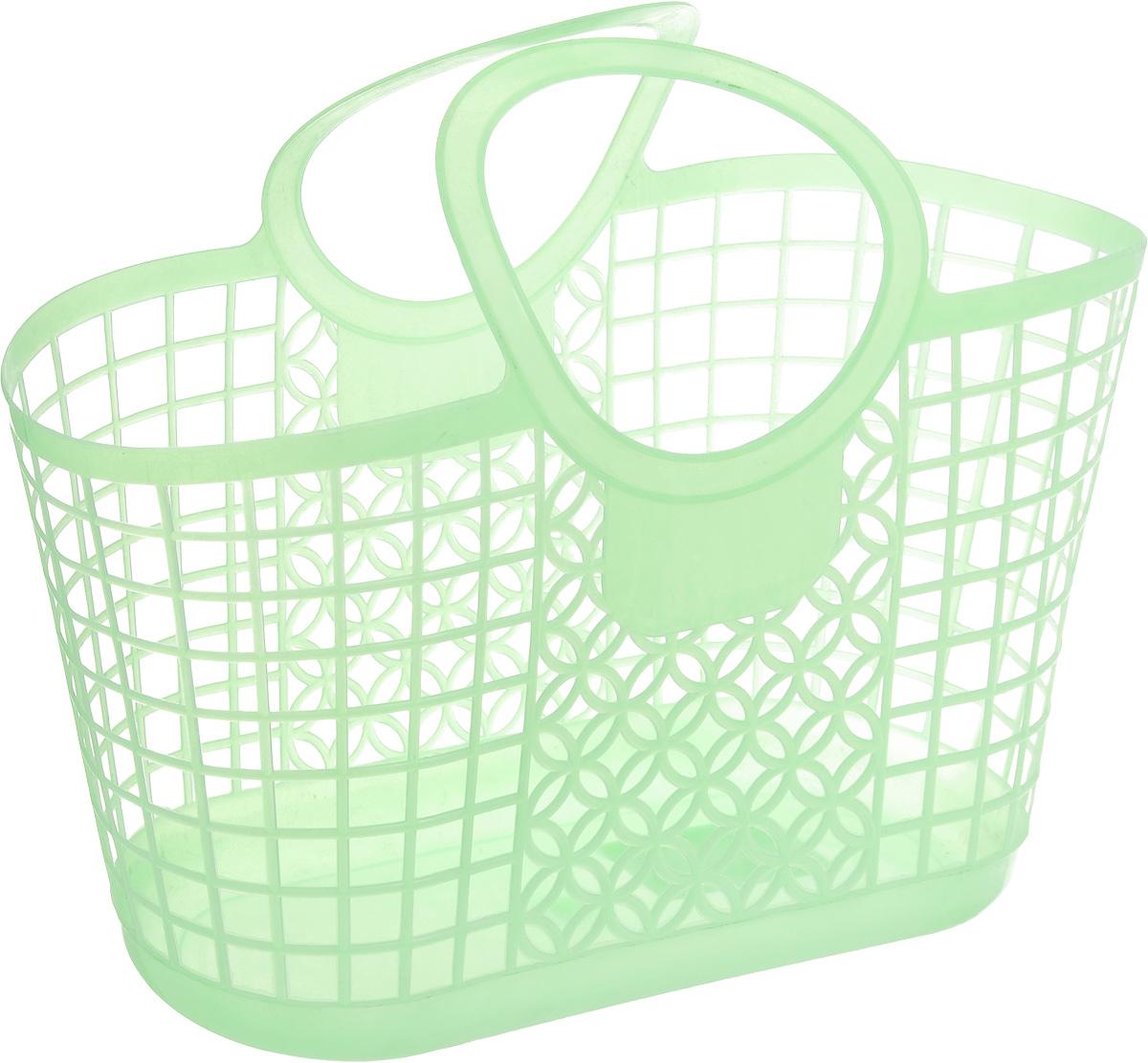 Корзина для мелочей Sima-land, цвет: зеленый, 31 х 15 х 16 см848399_зеленыйУниверсальная корзинка Sima-land подходит для хранениябытовых принадлежностей, косметики, рукоделия, предметов гигиены идругих мелочей. Поможет правильно организовать пространство в доме исэкономить место. Имеет удобные ручки для переноски.Размер корзины (с учетом ручек): 31 см х 15 см х 16 см.