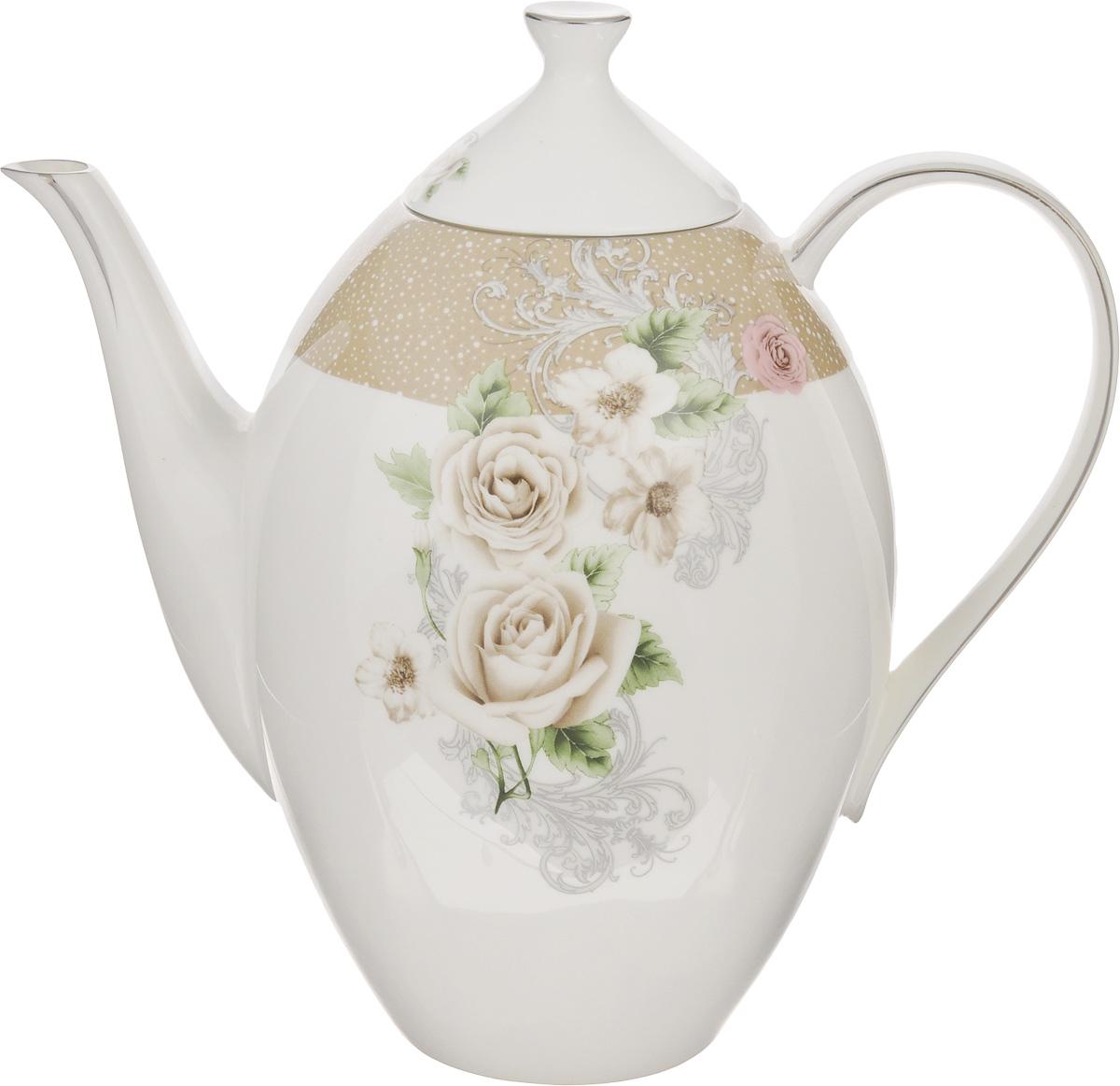 Чайник заварочный Family & Friends Florance, 1,3 лPR7994Заварочный чайник Family & Friends Florance изготовлен из фарфора и оформлен оригинальным цветочным узором. Такой чайник прекраснодополнит сервировку стола к чаепитию и станет его неизменным атрибутом.Объем: 1,3 л. Диаметр (по верхнему краю): 6 см. Высота стенки (без учета крышки): 17 см.