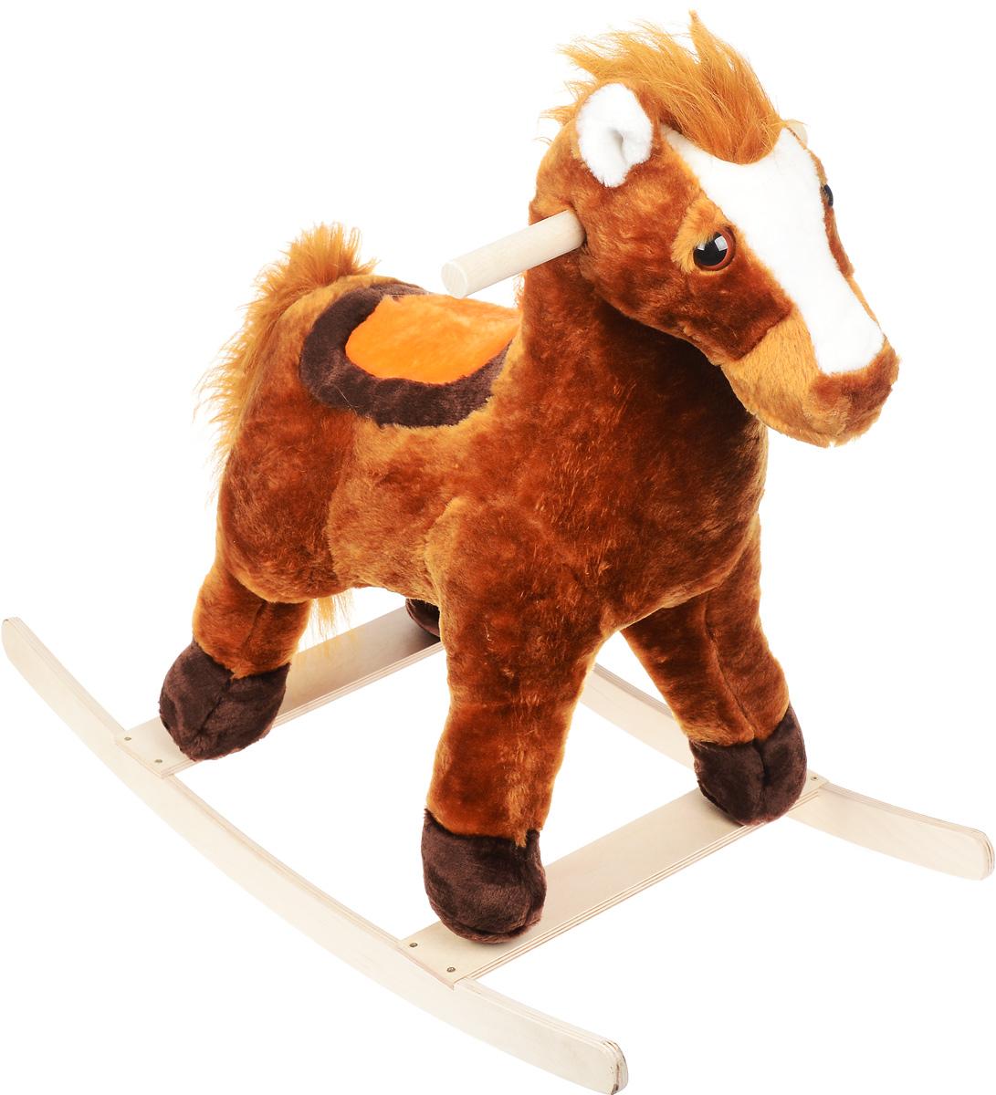 СмолТойс Игрушка-качалка Лошадь цвет коричневый - Ходунки, прыгунки, качалки