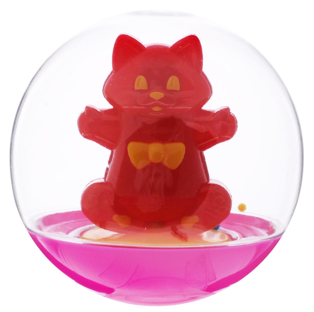 Stellar Погремушка-неваляшка Кот цвет красный малиновый развивающая игрушка stellar веселый молоточек цвет малиновый розовый желтый