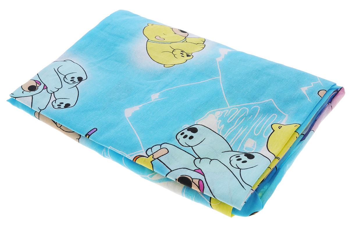 Фея Простыня на резинке Мишки цвет голубой 60 см х 120 см0001049-1_голубые мишки,мороженоеМягкая простыня на резинке Фея Мишки идеально подойдет для кроватки вашего малыша и обеспечит ему здоровый сон. Она изготовлена из натурального 100% хлопка, дарящего малышу непревзойденную мягкость. Простыня с помощью специальной резинки растягивается на матрасе. Она не сомнется и не скомкается, как бы не вертелся ребенок.Подарите вашему малышу комфорт и удобство!