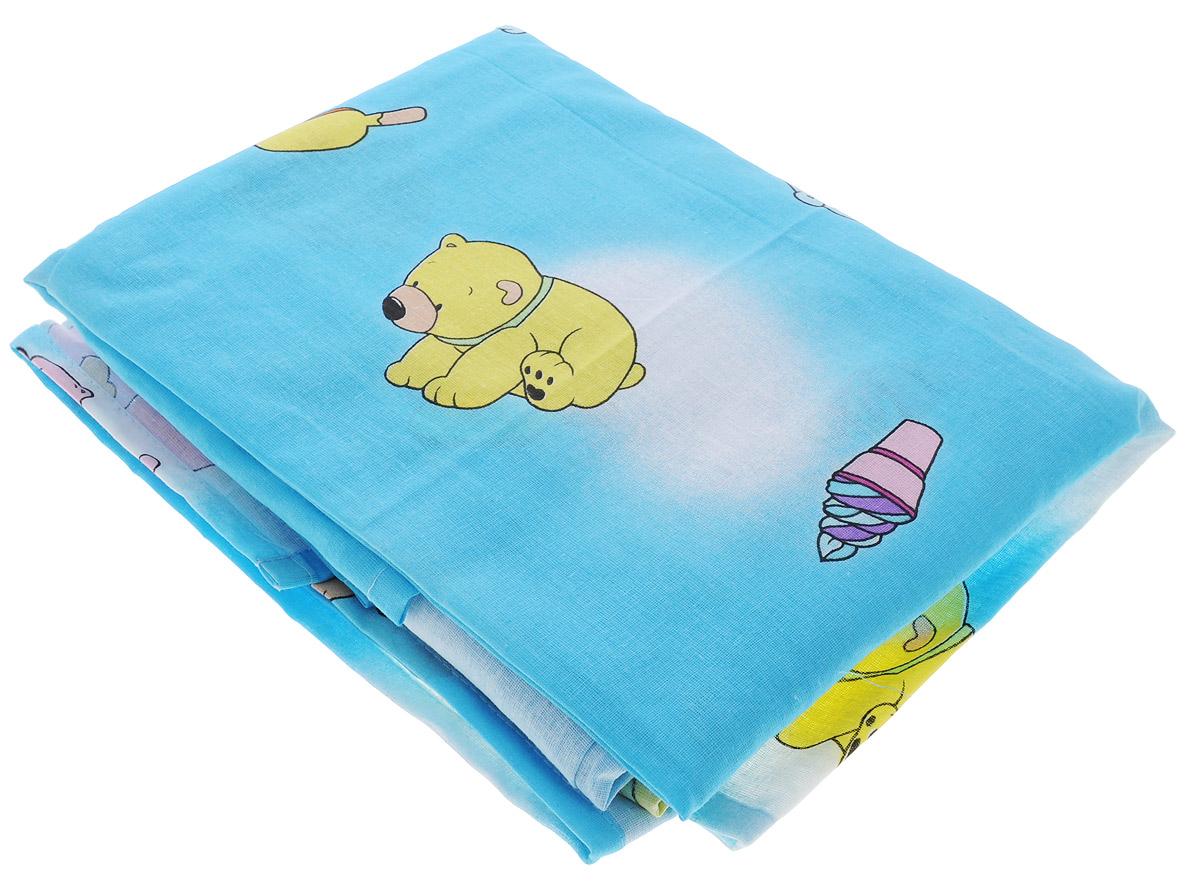 Фея Комплект детского постельного белья Мишки цвет голубой 3 предмета