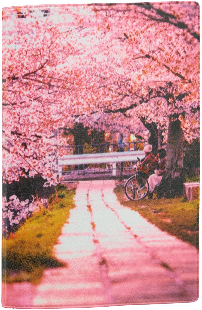Обложка для паспорта Mitya Veselkov Цветущая аллея, цвет: розовый. OZAM382ПВХ (поливинилхлорид)Обложка для паспорта Mitya Veselkov Цветущая аллея не только поможет сохранить внешний вид ваших документов и защитить их от повреждений, но и станет стильным аксессуаром, идеально подходящим вашему образу.Обложка выполнена из поливинилхлорида и оформлена ярким изображением парка. Внутри имеет два вертикальных кармана из прозрачного пластика.Такая обложка поможет вам подчеркнуть свою индивидуальность и неповторимость! Обложка для паспорта стильного дизайна может быть достойным и оригинальным подарком.