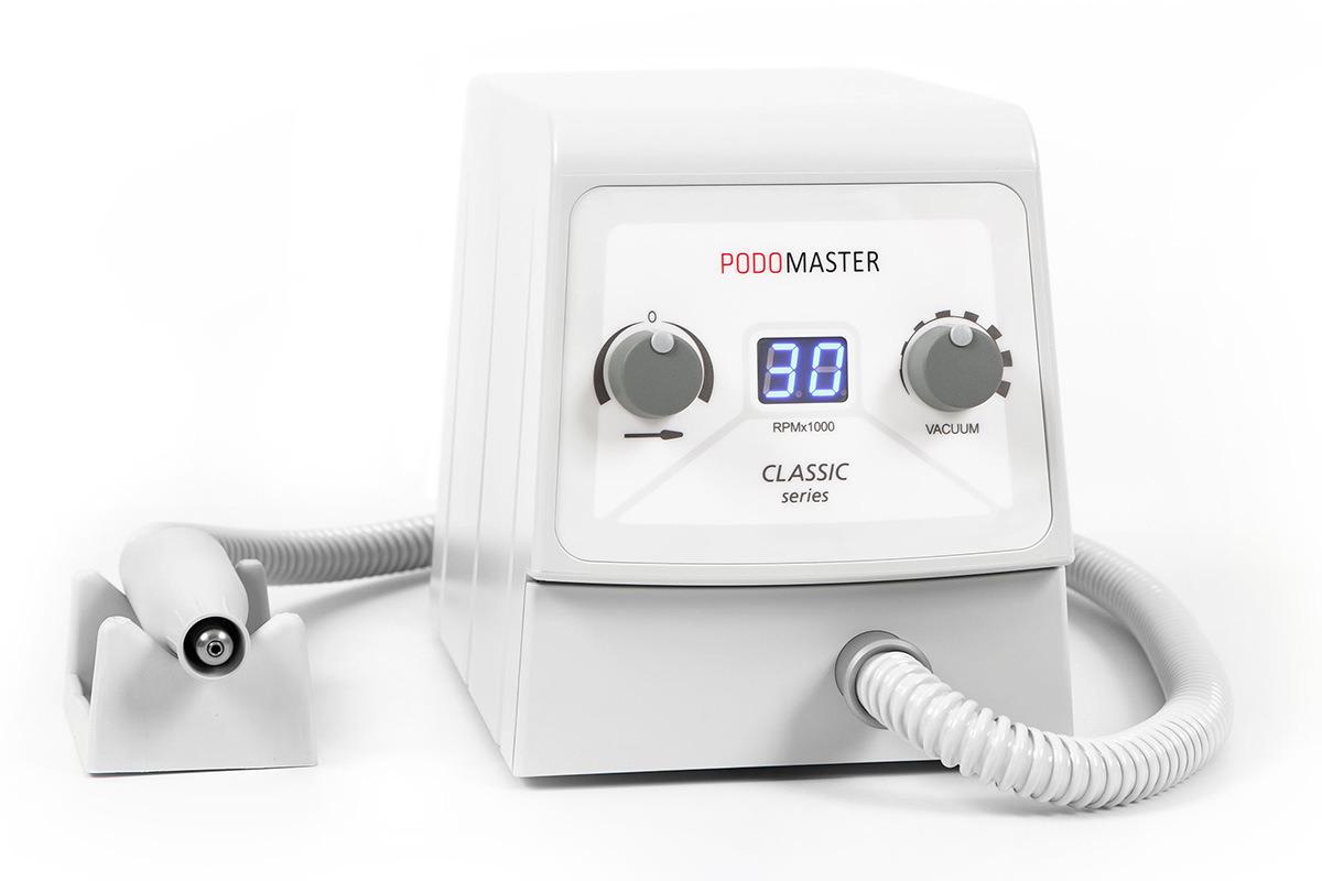 Евромедсервис Педикюрный аппарат с пылесосом Podomaster Classic Series (30 тыс. об/мин) - Маникюр и педикюр