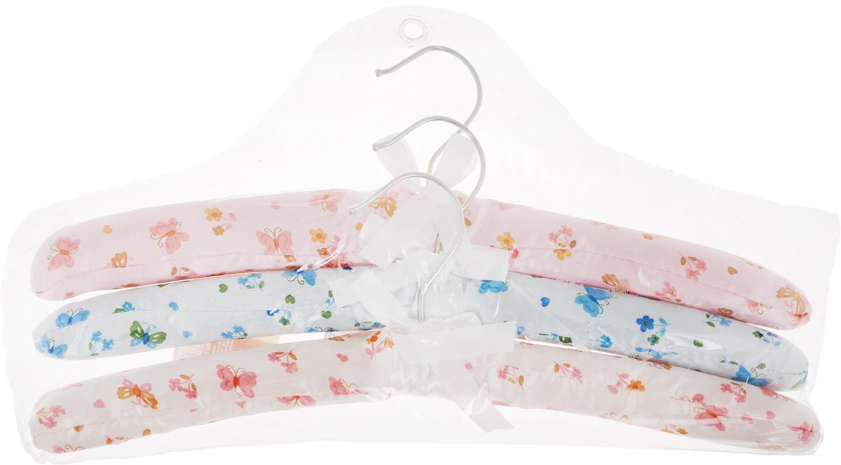 Набор вешалок для одежды Home Queen Цветы, цвет: голубой, розовый, белый, 3 шт57023Набор Home Queen Цветы состоит из трех вешалок,изготовленных из дерева и текстиля.Вешалки идеально подойдут для деликатной одеждыиз шерсти и нежных тканей.Набор Home Queen Цветы станет практичным и полезнымв вашем гардеробе. С ним ваша одеждаизбежит ненужных растяжек и провисаний. Подходит также для сушки вещейпосле стирки.Комплектация: 3 шт. Размер вешалки: 38 х 3,5 х 11,5 см.