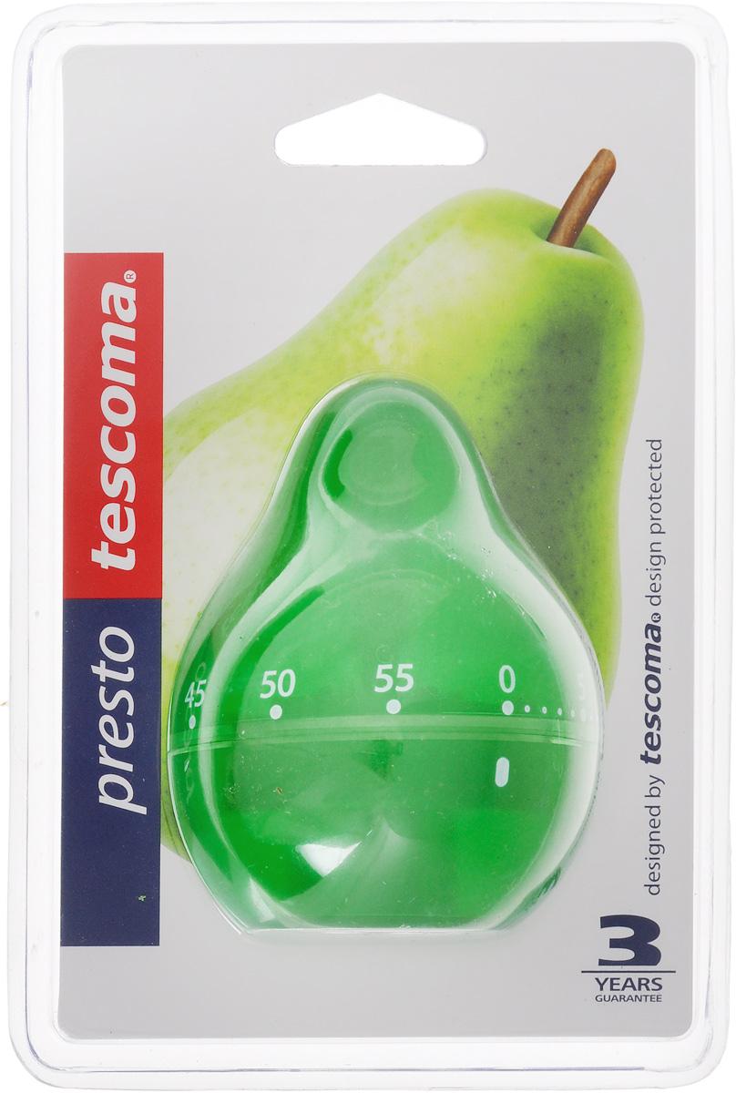Таймер кухонный Tescoma Фрукт. Груша, цвет: зеленый, на 60 мин636071_зеленыйКухонный таймер Tescoma Фрукт. Груша изготовлен из цветного пластика. Таймер выполнен в виде груши. Максимальное время, на которое вы можете поставить таймер, составляет 60 минут. После того, как время истечет, таймер громко зазвенит. Оригинальный дизайн таймера украсит интерьер любой современной кухни, и теперь вы сможете без труда вскипятить молоко, отварить пельмени или вовремя вынуть из духовки аппетитный пирог.