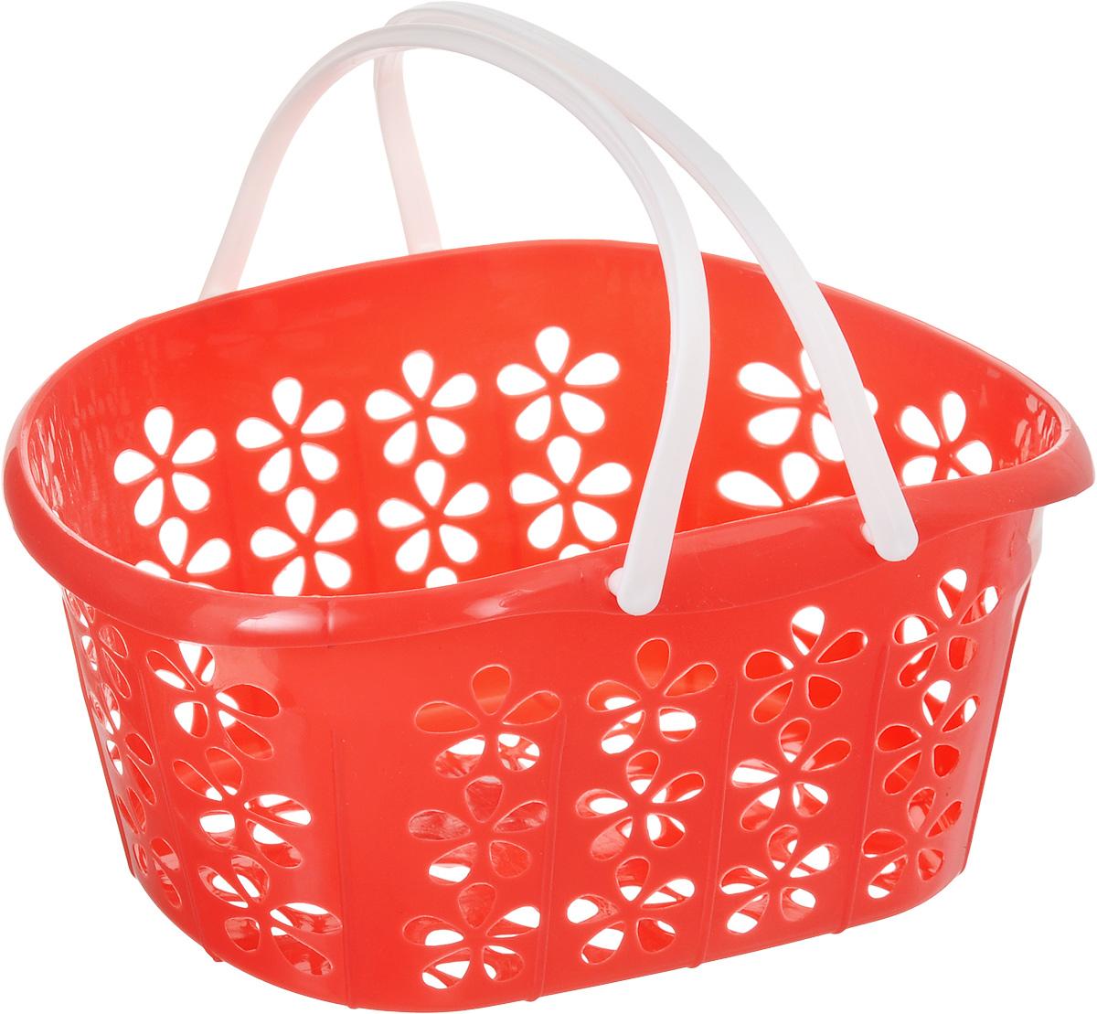 Корзинка Sima-land, с ручками, цвет: красный, 22,5 х 16,5 х 12 см139077_красныйКорзинка Sima-land, изготовленная из высококачественного прочного пластика,предназначена для хранения мелочей в ванной, на кухне, даче или гараже. Изделие оснащено двумя удобными складными ручками. Это легкая корзина с сетчатым дном, жесткой кромкой и небольшимиотверстиями позволяет хранить вещи в одном месте, исключая возможность их потери. Сетчатое дно исключает скопление пыли и влаги на дне корзины.
