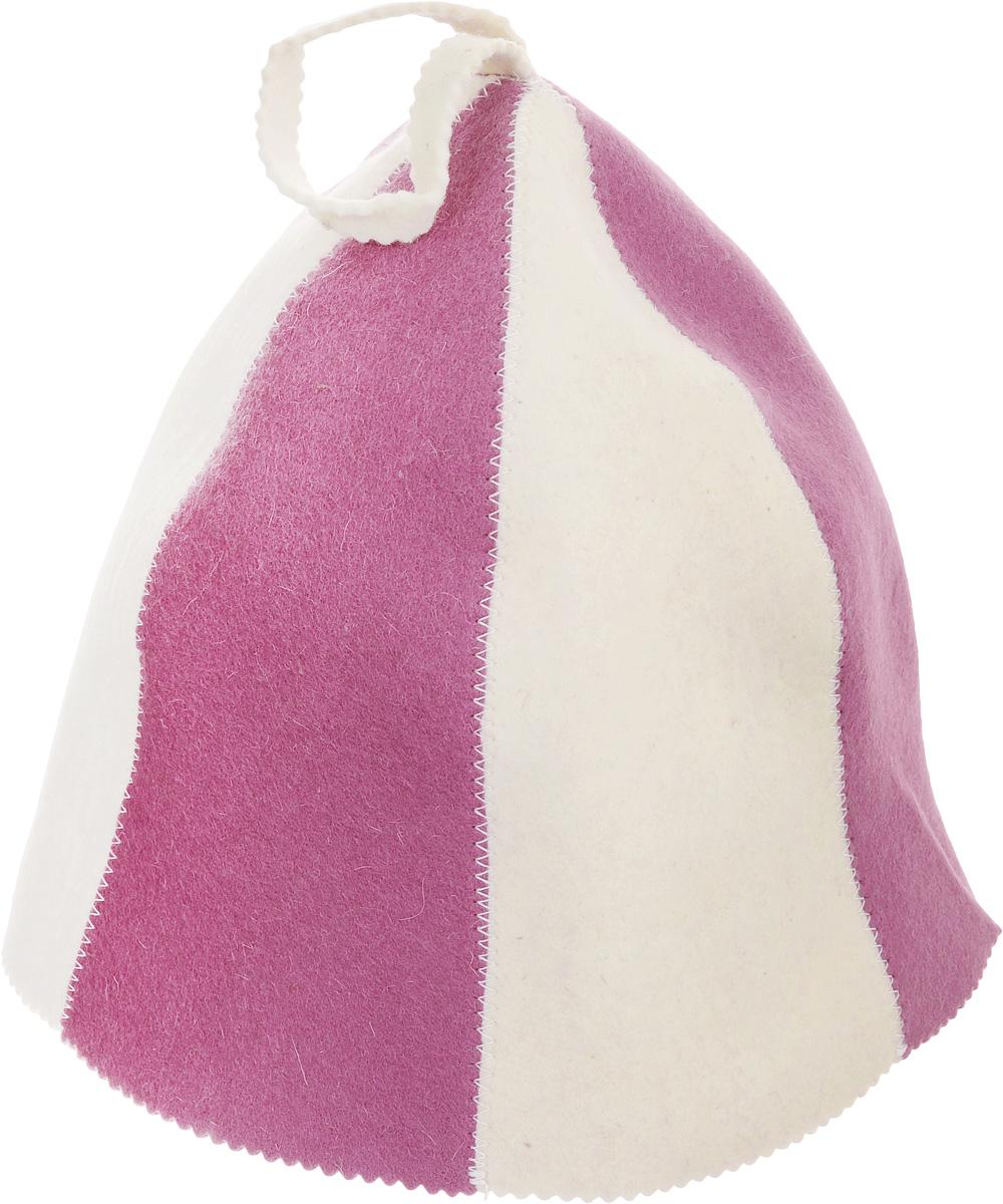 Шапка для бани и сауны Банные штучки Разноцветная, цвет: белый, розовый41116_белый, розовыйШапка для бани и сауны Банные штучки Разноцветная, изготовленная из войлока, это незаменимый аксессуар для любителей попариться в русской бане и для тех, кто предпочитает сухой жар финской бани. Необычный дизайн изделия поможет сделать ваш отдых более приятным и разнообразным, к тому же шапка защитит вас от появления головокружения в бане, ваши волосы - от сухости и ломкости, а голову от перегрева.Такая шапка станет отличным подарком для любителей отдыха в бане или сауне. Диаметр основания шапки: 36 см.Высота шапки (без учета петельки): 26 см.