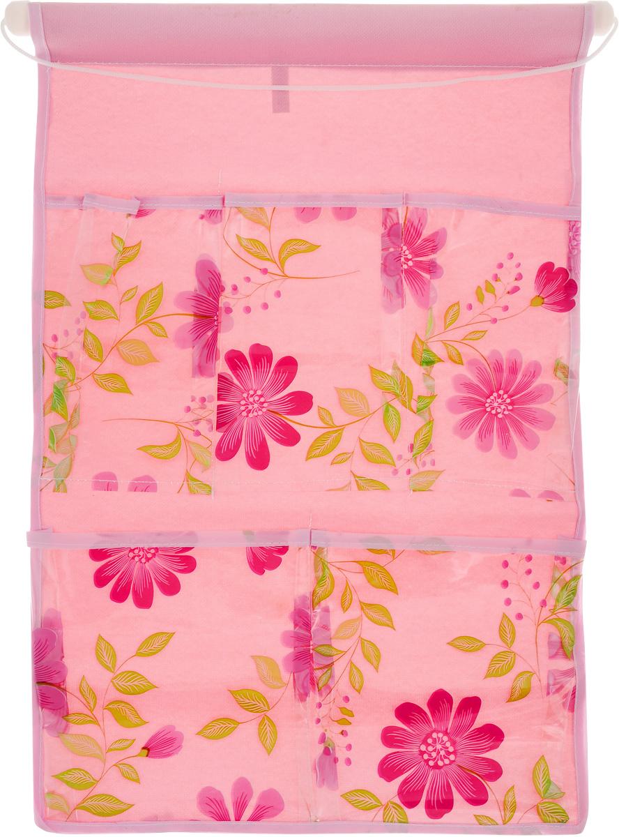 Кармашки на стену Sima-land Герберы, цвет: розовый, 5 отделений455709_розовыйКармашки на стену Sima-land Герберы, изготовленные из текстиля, предназначены дляхранения необходимых вещей,множества мелочей в гардеробной, ванной или детской. Изделие представляет собой полотно с 5 пришитыми кармашками из ПВХ, декорированнымиизображением цветов. Благодаря пластиковой трубке и шнурку, кармашки можно подвесить настену или дверь в необходимом для вас месте. Этот нужный предмет может стать одновременно и декоративным элементомкомнаты. Размеры изделия: 45 х 29 см.Размеры кармашков: 9 х 16 см; 9,5 х 16 см; 13,5 х 17 см; 14 х 17 см.