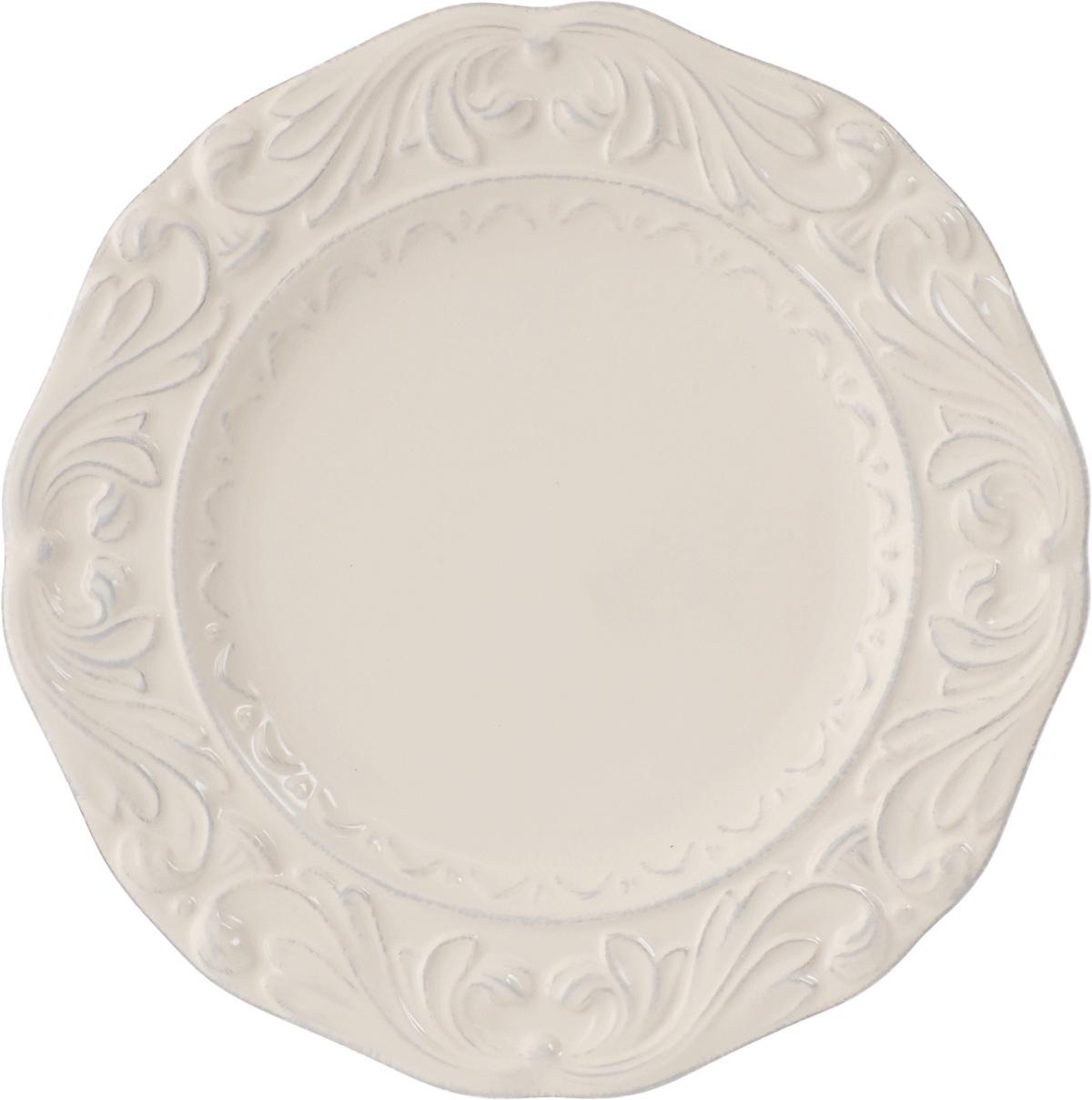"""Десертная тарелка Certified International """"Флоренция"""",  изготовленная из высококачественной керамики,  декорирована изящным рельефным рисунком. Она  подойдет как для торжественных случаев, так и для  повседневного использования.  Тарелка Certified International """"Флоренция"""" идеальна для  подачи десертов, пирожных, тортов и многого другого.  Она прекрасно оформит стол и станет отличным  дополнением к вашей коллекции кухонной посуды.   Можно мыть в посудомоечной машине и использовать в  микроволновой печи. Диаметр тарелки: 24 см."""
