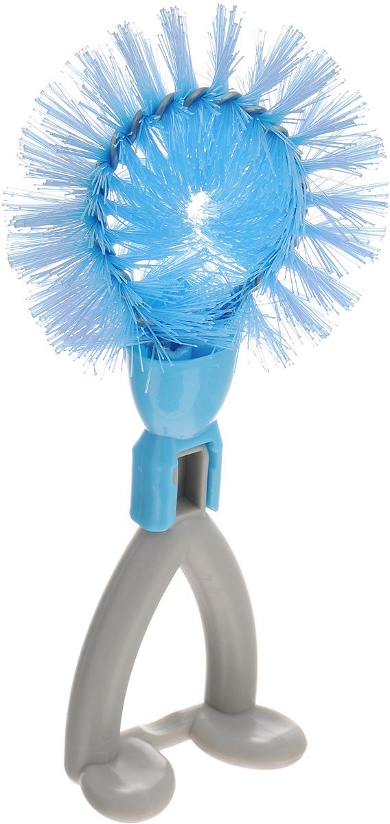 Щетка Идея Йоршик, цвет: голубой, серыйIOR-01_голубой, серыйЩетка Идея Йоршик, изготовленная из высококачественного пластика и нержавеющей стали, предназначена для чистки грязных поверхностей. Она имеет жесткую щетину, что позволит вам справиться с самыми стойкими загрязнениями. Благодаря оптимальному размеру и эргономичной ручке, щетка Идея Йоршик станет незаменимым инструментом на вашей кухне. Для наилучшего эффекта щетку необходимо использовать вместе с чистящими средствами, рекомендованными для поверхностей, которые вы обрабатываете.Использование этого приспособления позволит вам сэкономить время и силы. Не применять абразивные чистящие средства и сильнодействующие химикаты.Не рекомендуется мыть в посудомоечной машине.Длина щетины: 3,5 см.Общий размер щетки: 18 х 8 х 7,5 см.