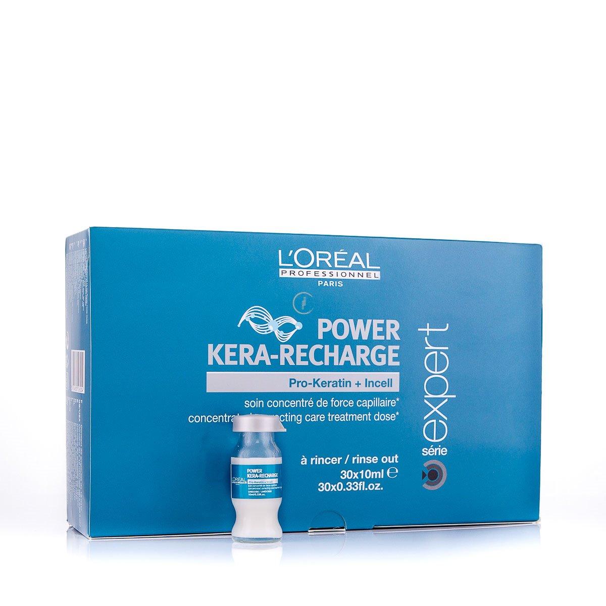 LOreal Professionnel Концентрированная корректирующая монодоза-уход для поврежденных волос Expert Pro-Keratin Refill Power Kera-Recharge - 30*10 млE0526204Концентрированная корректирующая монодоза с креатином Pro-Keratin Refill. Средство предназначено для разглаживания сильно поврежденных волос или особенно чувствительных зон, требующих дополнительного ухода волос и интенсивно питает ослабленные, поврежденные и ломкие волосы, увеличивает объем и дает плотность тонким волосам. Защищает волосы от воздействия УФ-излучения, вредных влияний внешней среды.Активные компоненты: Pro-кератин, молекулы Incell, протеины пшеницы, аргинин, фруктовые экстракты.