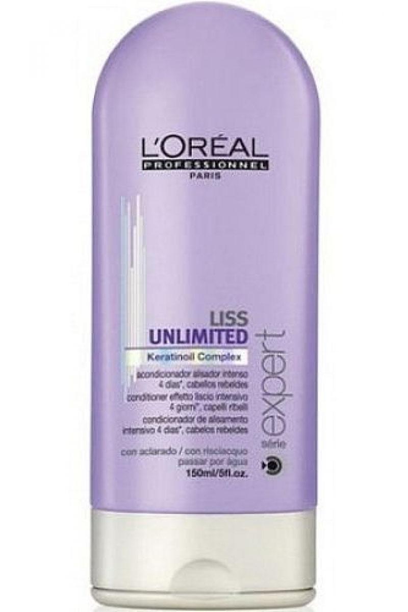 LOreal Professionnel Liss Unlimited – Смываемый уход для непослушных волос 150 млE0535398LOreal Professionnel Liss Unlimited Conditioner Смываемыйуходдлянепослушныхволос специальное разработанное средство для ухода за капризными» волосами. Использование кондиционера делает непослушные, завивающиеся при влажной погоде, волосы гладкими, эластичными и упругими, придает им красивый естественный блеск и роскошный ухоженный вид.Сбалансированный состав кондиционера, обогащенный комплексом питательный веществ и минералов, обеспечивает необходимое питание волос и их защиту от негативного воздействия внешней среды. Регулярное использование LOreal Professionnel Liss Unlimited Conditioner это легкое расчесывание волос и идеальная прическа каждый день.Применение кондиционера обеспечивает безупречную гладкость и послушность волос в течение 3-4-х дней, не позволяя им завиваться и пушиться даже во влажную погоду. Кондиционер позволяет без особых усилий поддерживать прическу в идеальном состоянии, не прибегая для этого к дополнительным ухаживающим средствам.LOreal Professionnel Liss Unlimited Conditioner всегда красивые и послушные волосы без проблем!