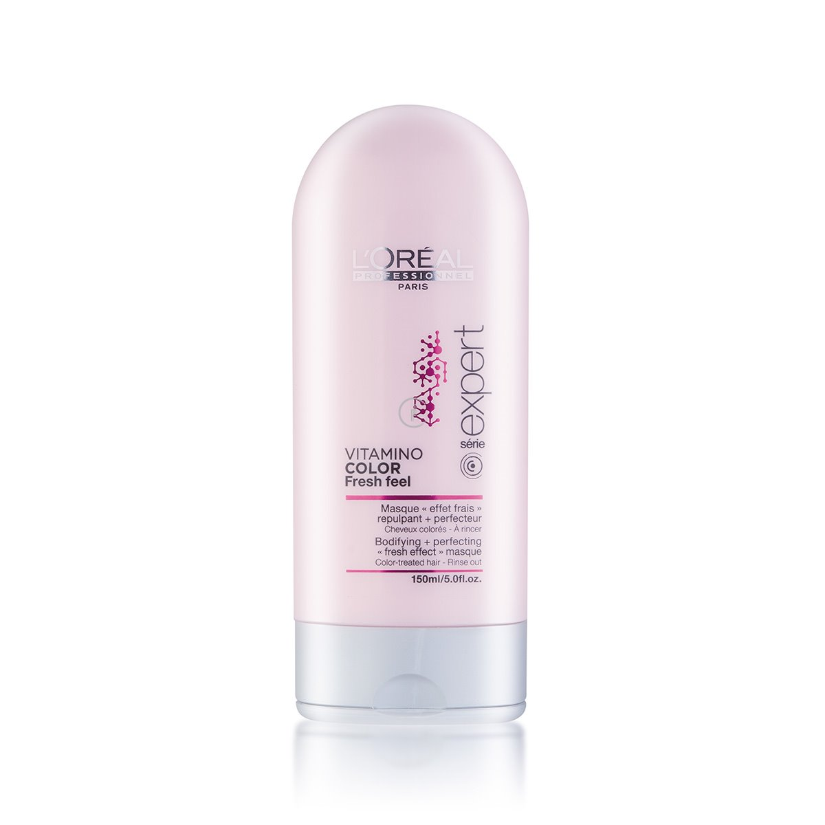 LOreal Professionnel INOA - Маска с освежающим эффектом для защиты цвета окрашенных волос Expert Vitamino Color Fresh Feel Masque 150 млE6202430Идеально подходит для волос, окрашенных. В сочетании с мягким шампунем без сульфатов Vitamino Color AOX Soft Cleanser освежающая маска защищает материю окрашенных волос. Профессиональные стилисты знают, что женщины мечтают о сохранении текстуры и блеска только что окрашенных волос как можно дольше. Нежная тающая текстура с освежающим эффектом разглаживает чешуйки волоса и мягко освежает кожу головы. Окрашенные волосы выглядят вновь как в первый день после окрашивания, становятся гладкими, послушными и сияющими. сохраняя насыщенность оттенка.