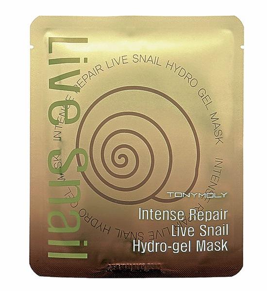 TonyMoly Гидрогелевая маска Intense Repair Live Snail Hydro-gel Mask, 25 гр berrisom маска для лица серии animal mask собачка 25 мл