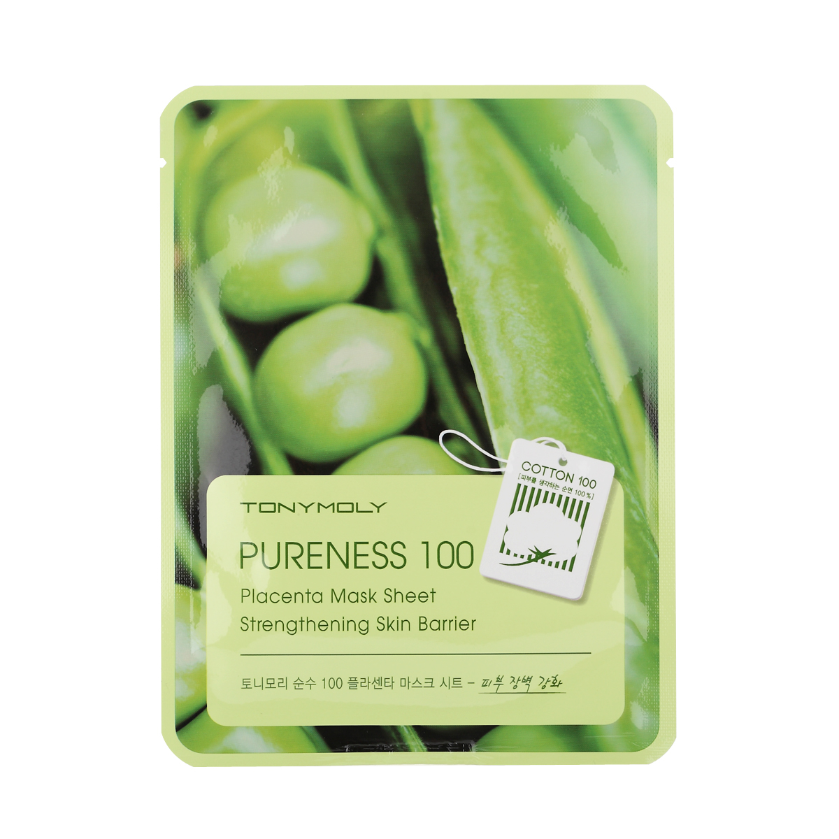 TonyMoly Тканевая маска с экстрактом растительной плаценты Pureness 100 Placenta Mask Sheet, 21 мл тканевая маска tony moly pureness 100 shea butter mask sheet объем 21 мл
