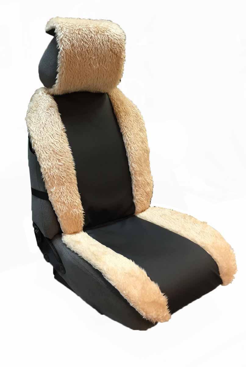 Накидка на сиденье автомобиля Auto Premium, цвет: черный, бежевый. 4711047110Комбинированная накидка на сиденье автомобиля Auto Premium выполнена из экокожи и искусственного меха. Стильное и практичное решение для салона автомобиля. Экокожа обеспечит долговечность использования накидки, а искусственный мех сделает сиденье автомобиля еще более комфортным. Долговечная и в то же время теплая накидка в ваш автомобиль.