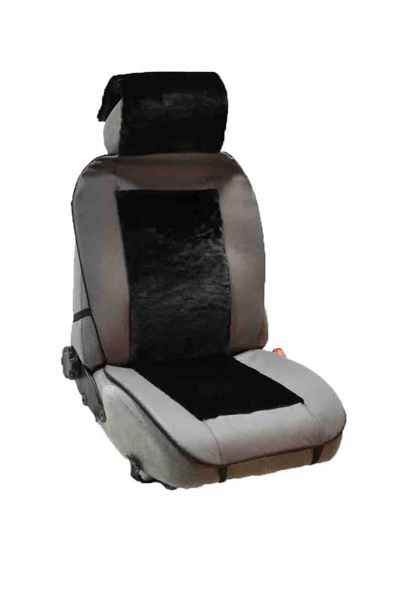 Накидка Auto premium на полное сидение, цвет: черно-серый. 4711247112Комбинированная накидка из экокожи и искуственного меха. Стильное и практичное решение для салона автомобиля. Экокожа обеспечит долговечность использования накидки, а искуственный мех сделает сиденье автомобиля еще более комфортным. Долговечная и в то же время теплая накидка в Ваш автомобиль.