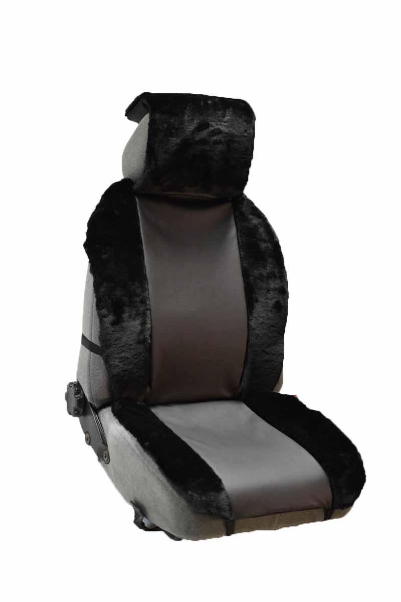 Накидка Auto premium на полное сидение, цвет: черно-серый. 47113