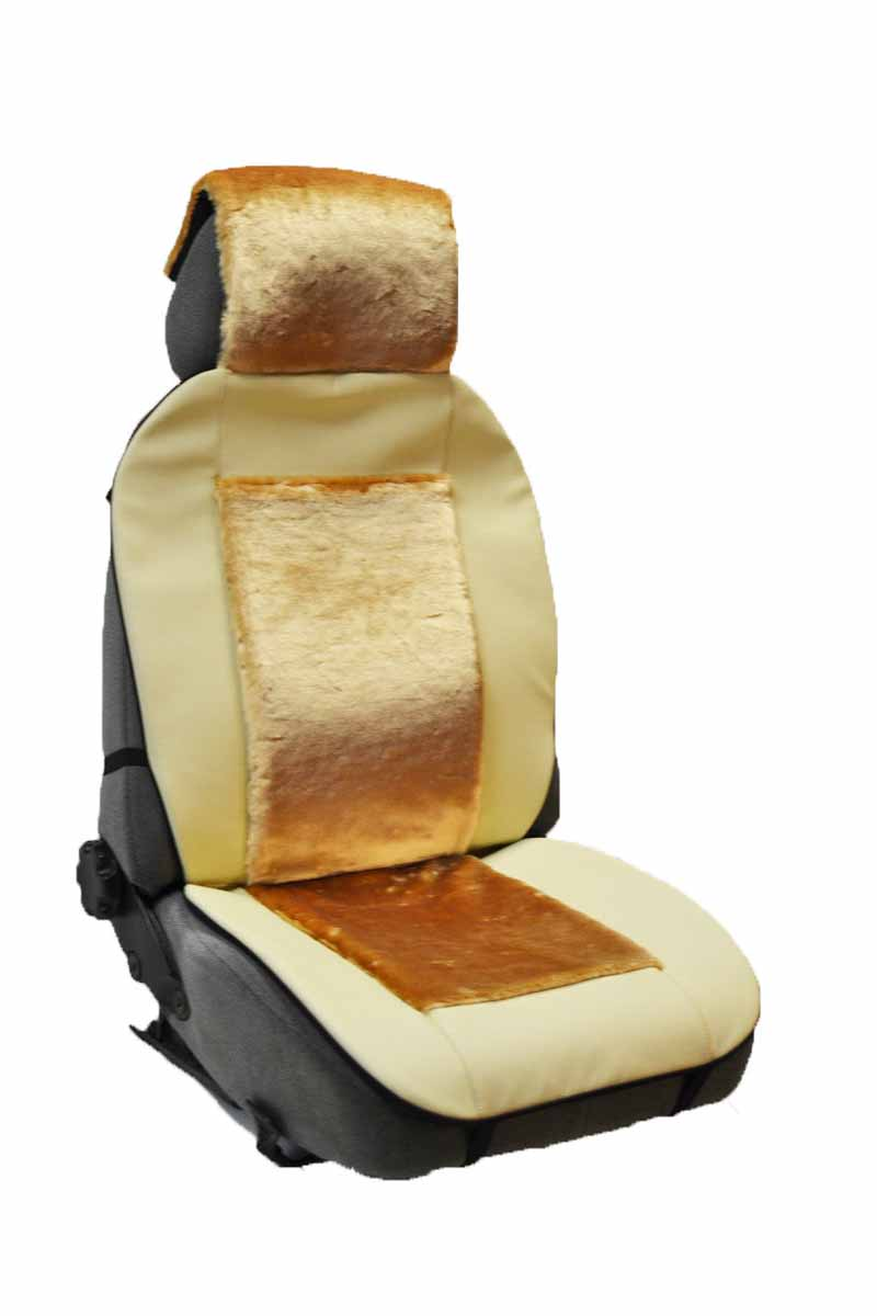 Накидка Auto premium на полное сидение, цвет: бежевый. 4711447114Комбинированная накидка из экокожи и искуственного меха. Стильное и практичное решение для салона автомобиля. Экокожа обеспечит долговечность использования накидки, а искуственный мех сделает сиденье автомобиля еще более комфортным. Долговечная и в то же время теплая накидка в Ваш автомобиль.