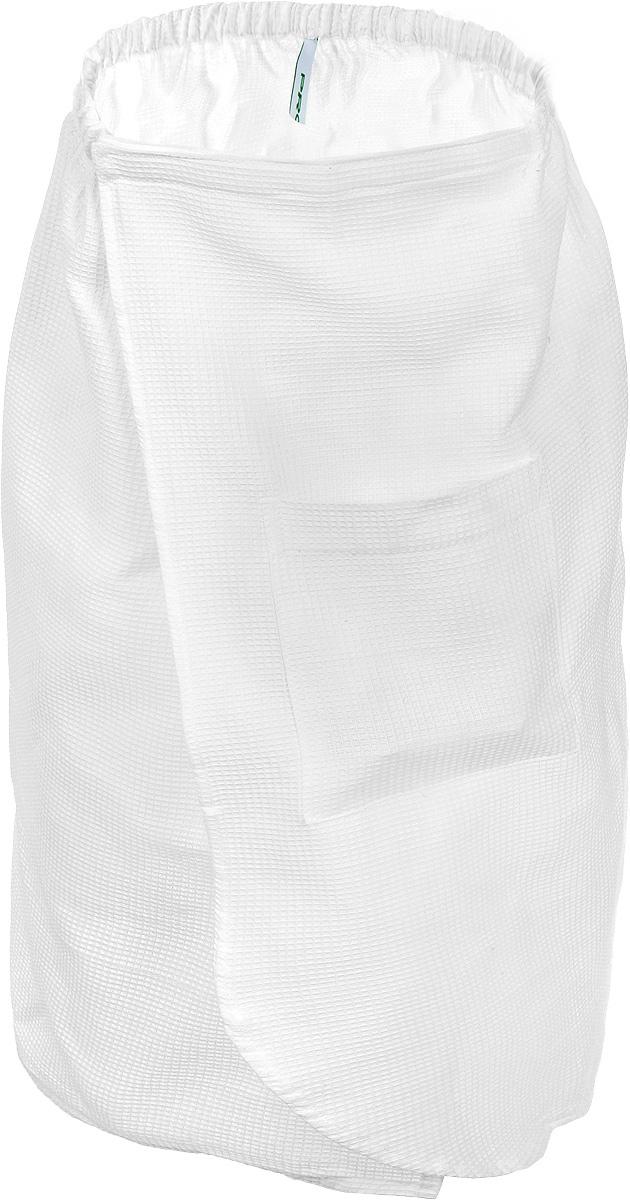 Килт для бани и сауны Proffi Sauna, цвет: белыйPH2030Вафельный килт для бани и сауны Proffi Sauna, выполненный из натурального хлопка, привлечет внимание любителей модных тенденций в банной одежде.Килт - это многофункциональное полотенце специального покроя с резинкой и на липучке. На лицевой стороне имеется кармашек. В парилке можно лежать на нем, после душа вытираться, а во время отдыха использовать как удобную накидку.Длина килта: 73 см.Ширина килта: 140 см.Размер: М.