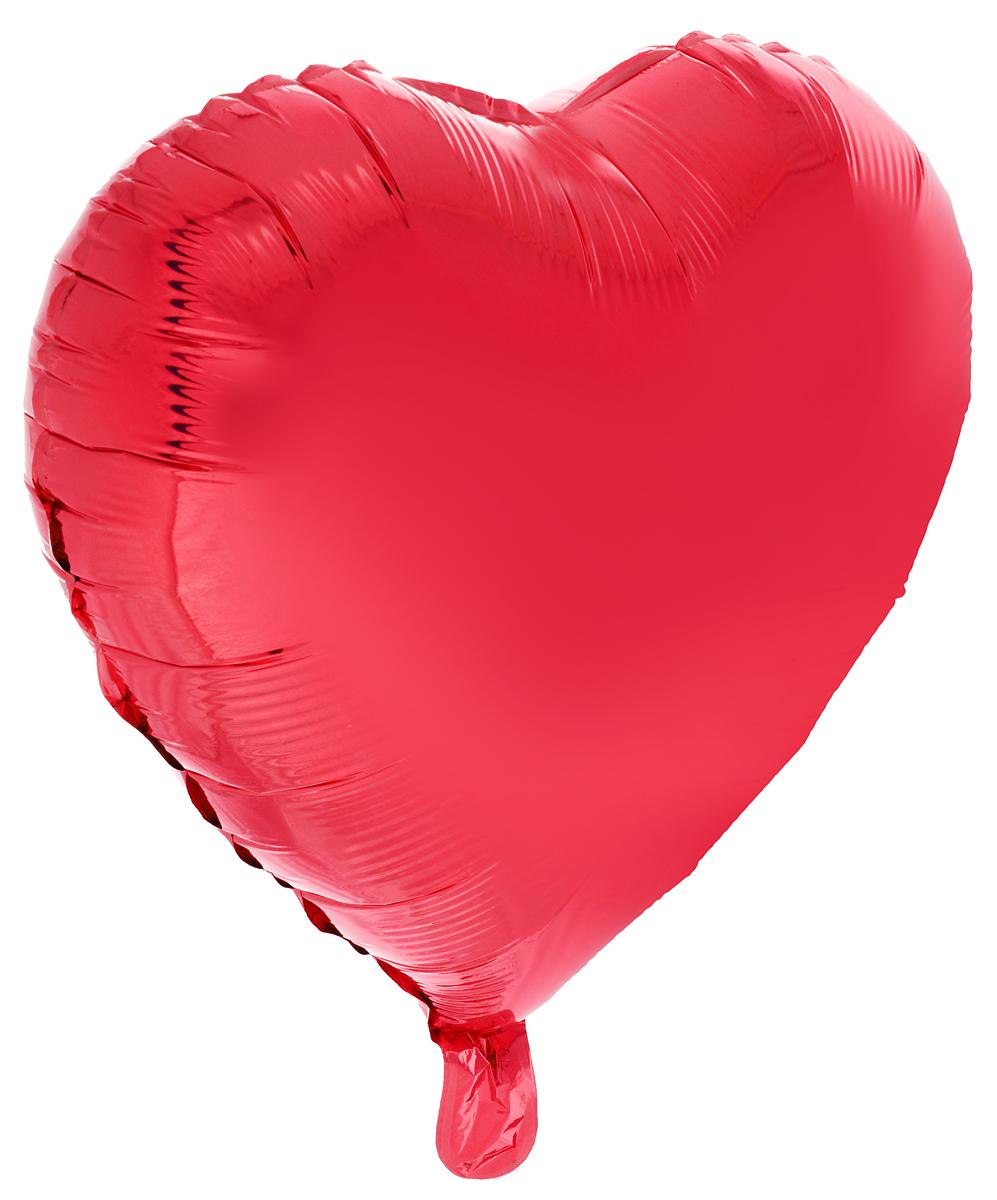 Action! Шар фольгированный Сердце цвет красный -  Воздушные шарики