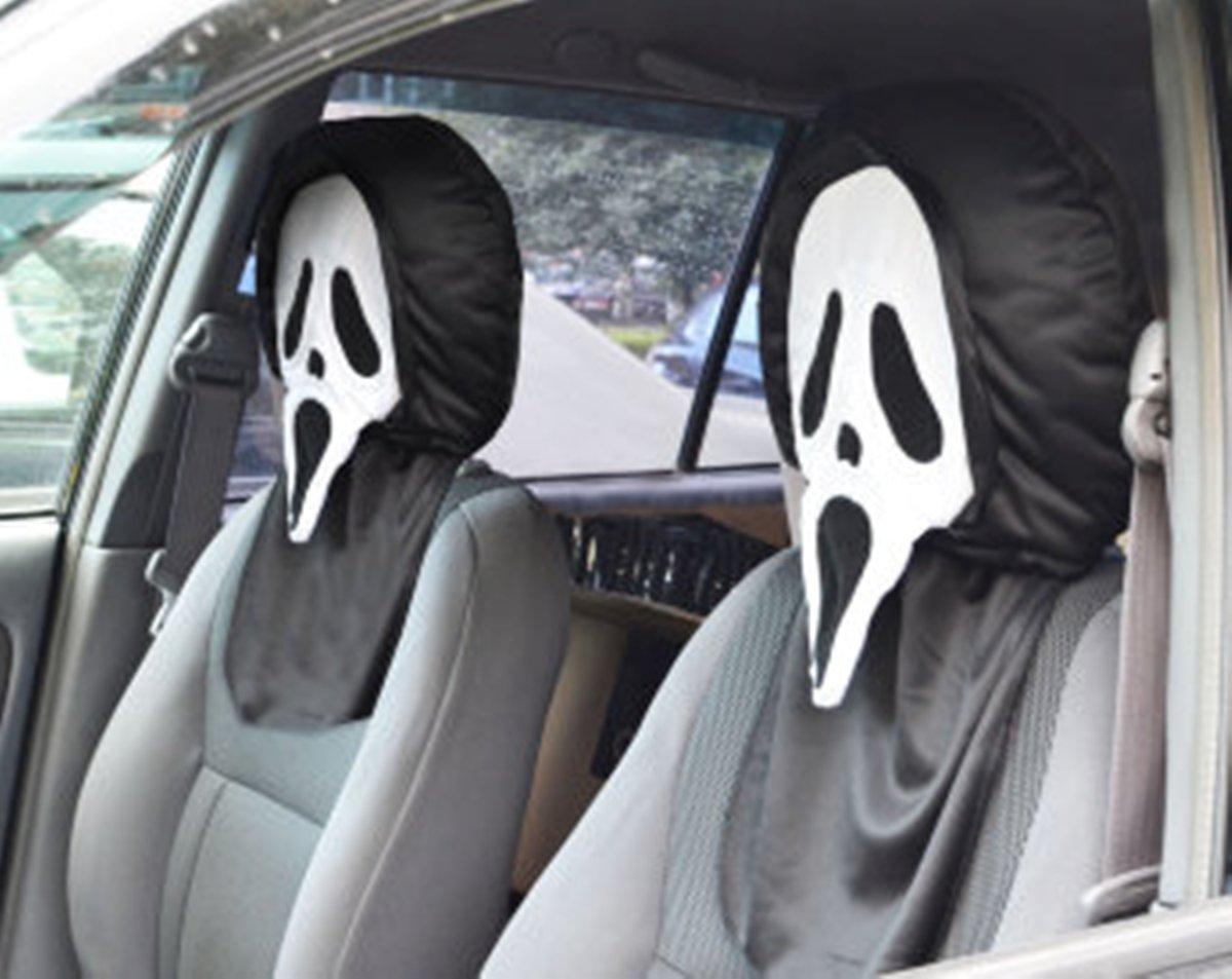 Чехол на подголовник Auto Premium Крик77030Чехлы на подголовник Auto Premium Крик - это интересная и оригинальная фишка в ваш автомобиль. Даже если вы просто ведете авто в одиночестве, многие обратят внимание, на пассажира соседнего сидения. Именно так достигается вау-эффект, который подарит вам данный подголовник. Коротко о применение чехлов на подголовник Auto Premium Крик: как шутка или розыгрыш, фишка в ваш авто, интересный подарок для автовладельца, украшение на Хэллоуин.