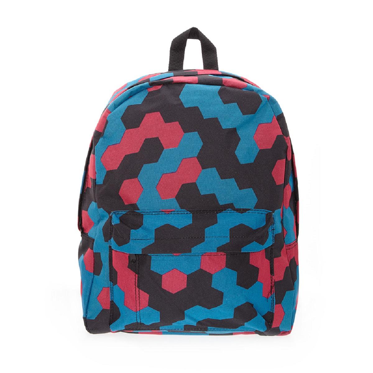 Рюкзак городской 3D Bags Мозаика, 16 л3DBC329Рюкзак городской 3D Bags Мозаика, 16 л. Стильный, вместительный и практичный, рюкзак понравится и школьникам, и студентам.Просторный внутренний отсек, наружный карман на молнии будут очень удобны в использовании.