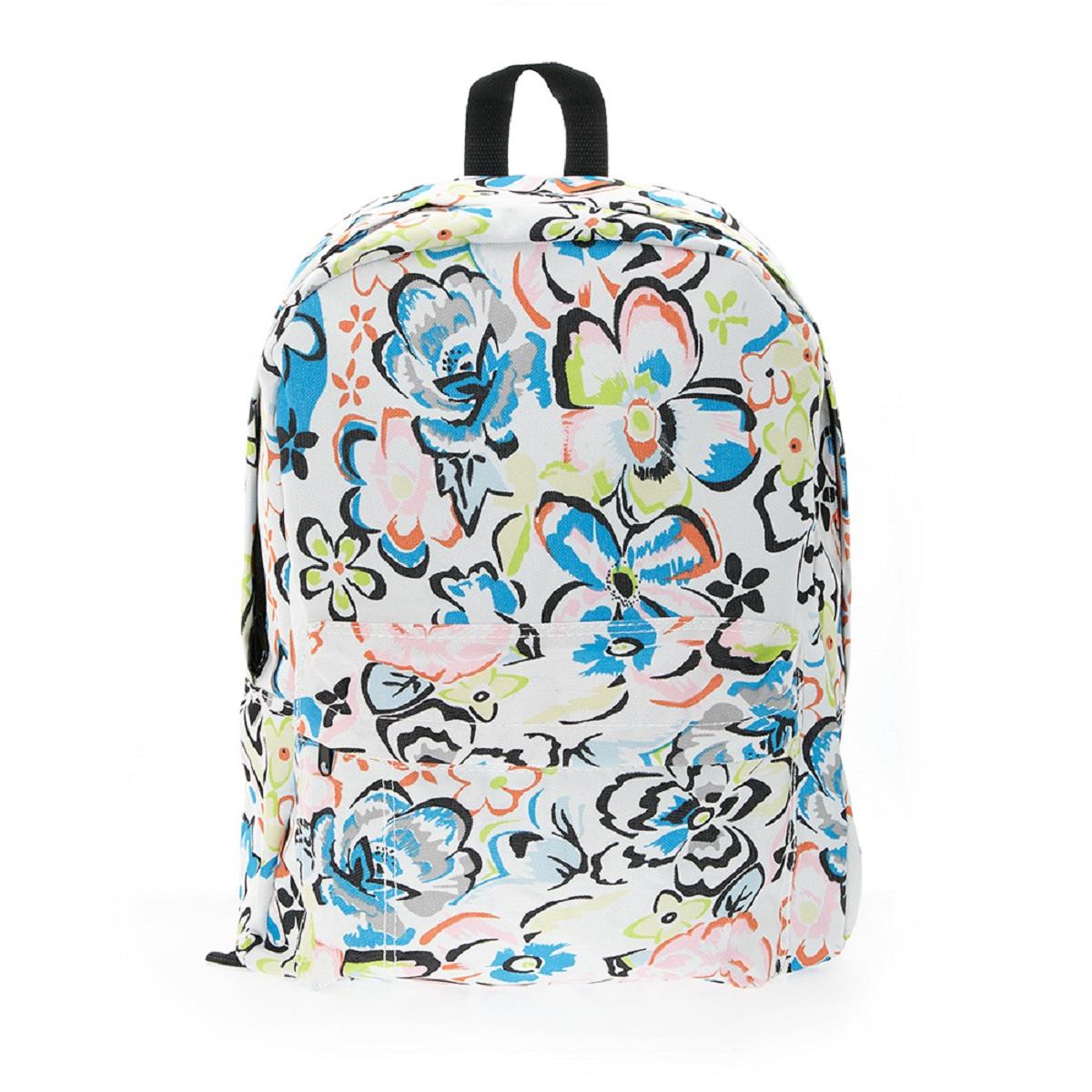 Рюкзак городской 3D Bags Цветы, 16 л3DBC409Стильный городской рюкзак 3D Bags Цветы - вместительный и практичный, понравится и школьникам, и студентам. Просторный внутренний отсек, наружный карман на молнии будут очень удобны в использовании.