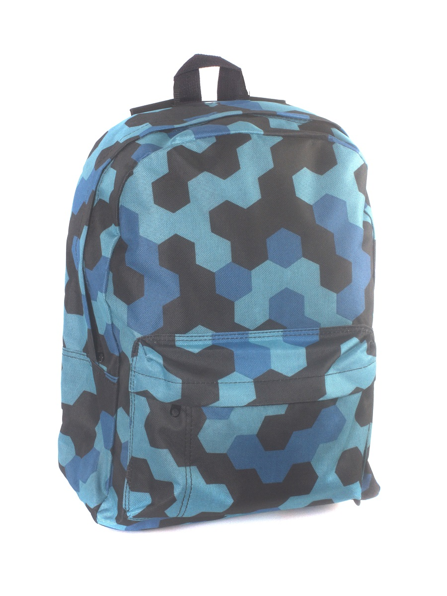 Рюкзак городской 3D Bags Мозаика синяя, 16 л3DBC412Рюкзак городской 3D Bags Мозаика синяя, 16 л. Стильный, вместительный и практичный, рюкзак понравится и школьникам, и студентам.Просторный внутренний отсек, наружный карман на молнии будут очень удобны в использовании.